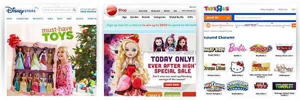 Disney Store, Mattel, toysRus - доставка из США