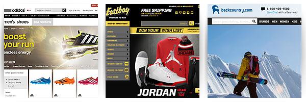 adidas, Eastbay, Backcountry - доставка из США